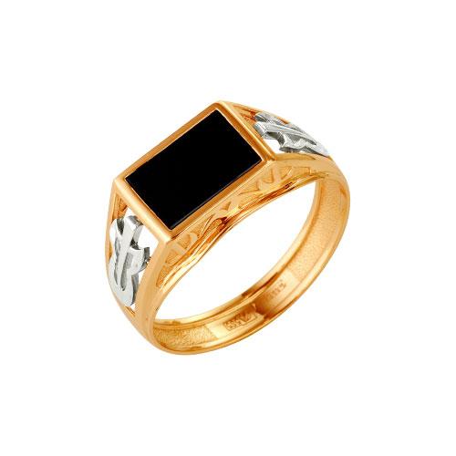 51-0079 Золотая печатка с ониксом