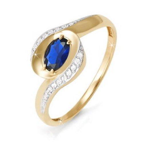 бр210032 Кольцо из белого золота