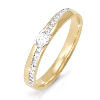 бр110028/1 кольцо из белого золота