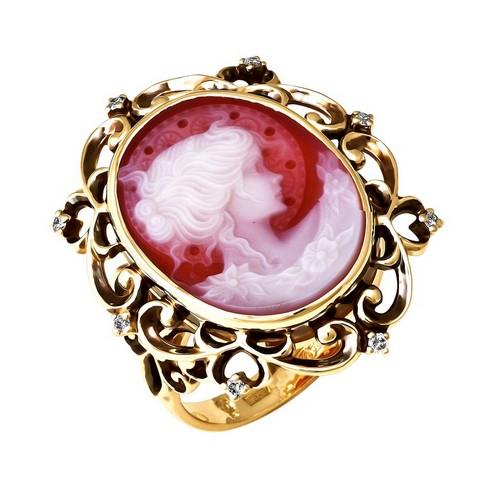 01-л043 Кольцо из лимонного золота