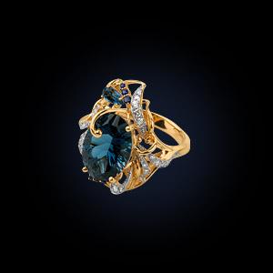 22608ж Кольцо из лимонного золота