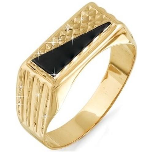 05120123-1 Золотая печатка с фианитом