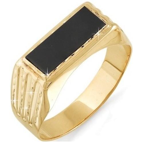 05120135-1 Золотая печатка с фианитом