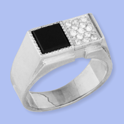 05120028-6 Серебряная печатка с фианитом