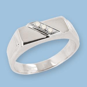 05120035-6 Серебряная печатка с фианитом