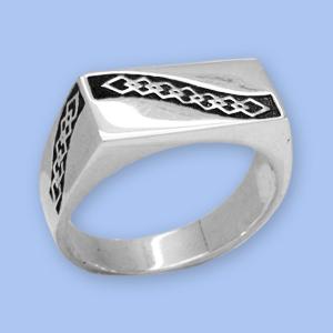 20120094-6 Серебряная печатка