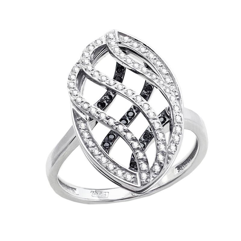 11-1602 кольцо из белого золота