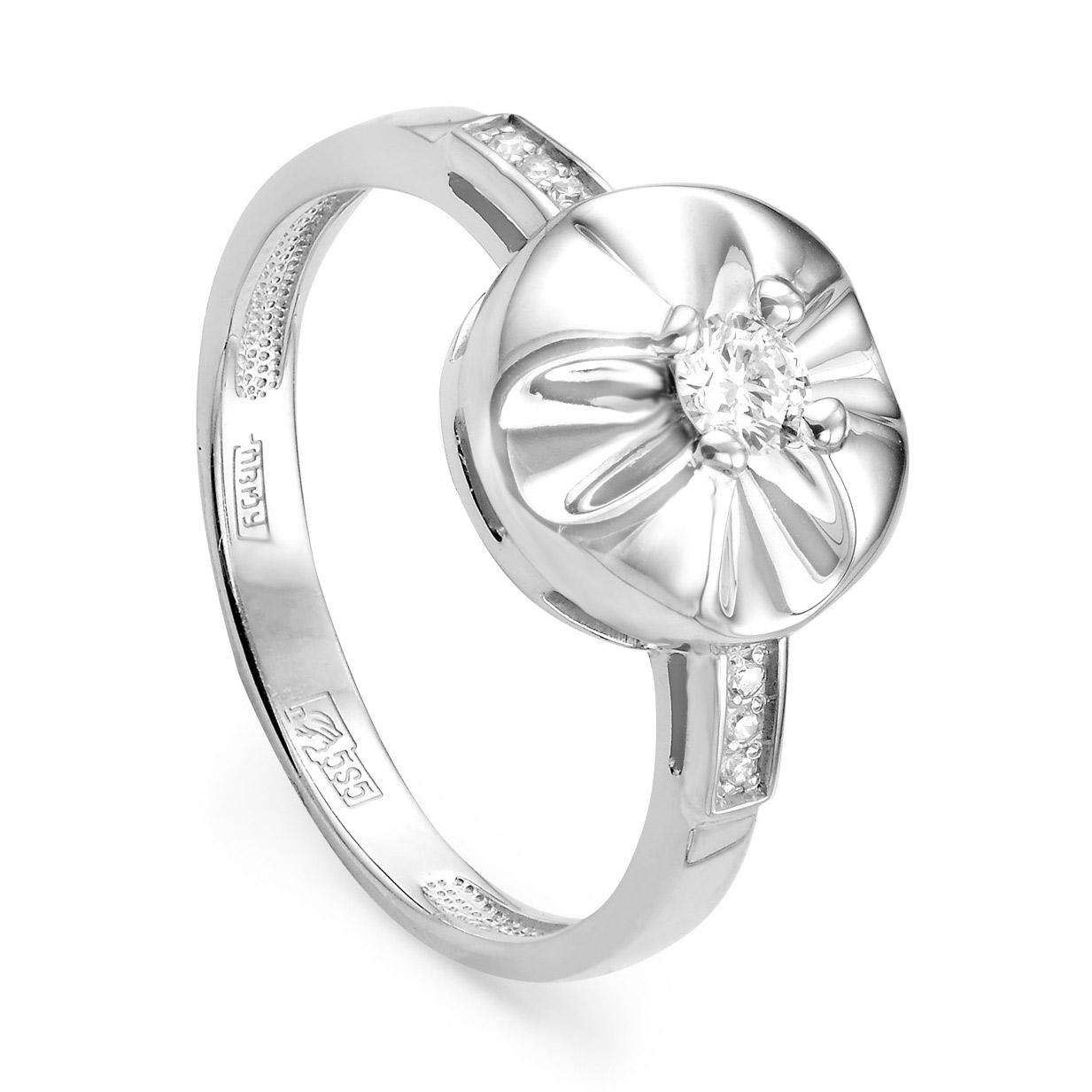 11-1607 Кольцо из белого золота