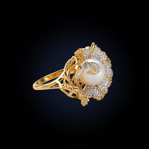 72090ж Кольцо из лимонного золота