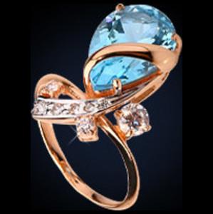 22405 Кольцо из белого золота