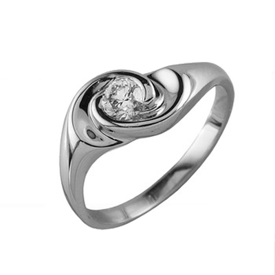 90013 Кольцо из белого золота