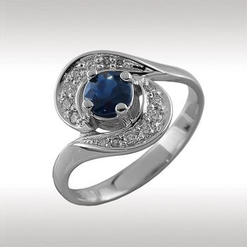 90076 кольцо из белого золота
