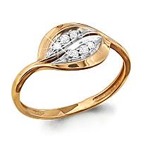 Золотое кольцо Фианит арт. 61924а 61924а