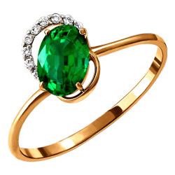 Золотое кольцо Бриллиант и Изумруд арт. 110389694 110389694