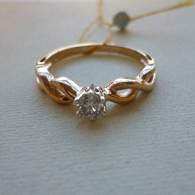 rr03458d Золотое кольцо