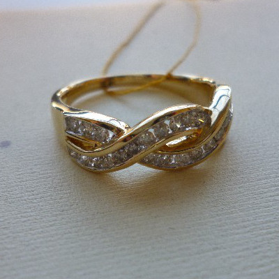 ry03179cd Кольцо из лимонного золота