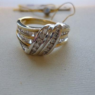 ry03316d Кольцо из лимонного золота