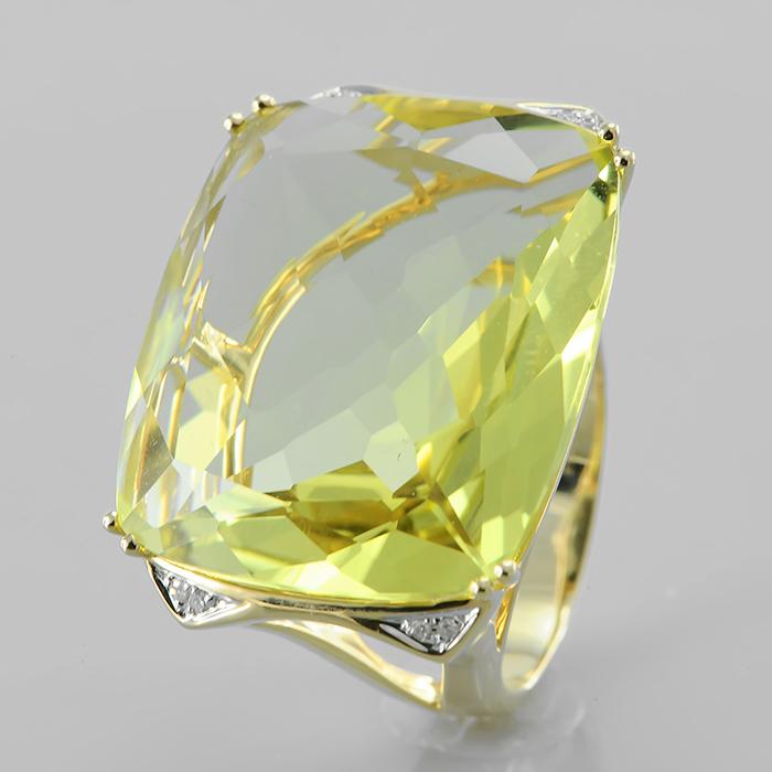 Кольцо из лимонного золота Бриллиант и Топаз арт. u296yta4yx u296yta4yx