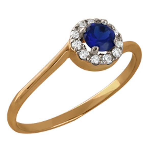 Золотое кольцо Сапфир арт. 110386261 110386261