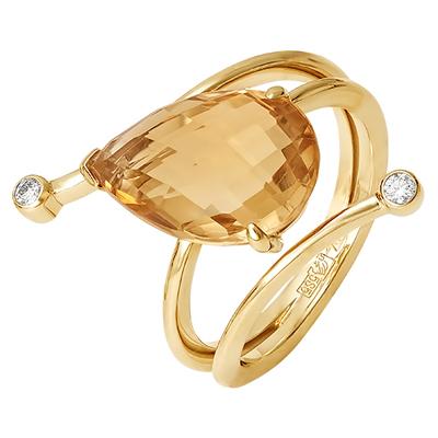 01-л025(г) Кольцо из лимонного золота