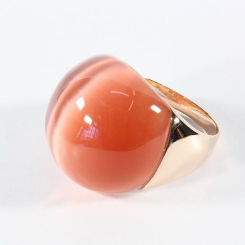RIC207-17 Кольцо серебряное с позолотой