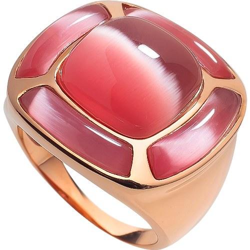 RIC226-17 Кольцо серебряное с позолотой