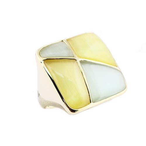 RIC196-10 Кольцо серебряное с позолотой