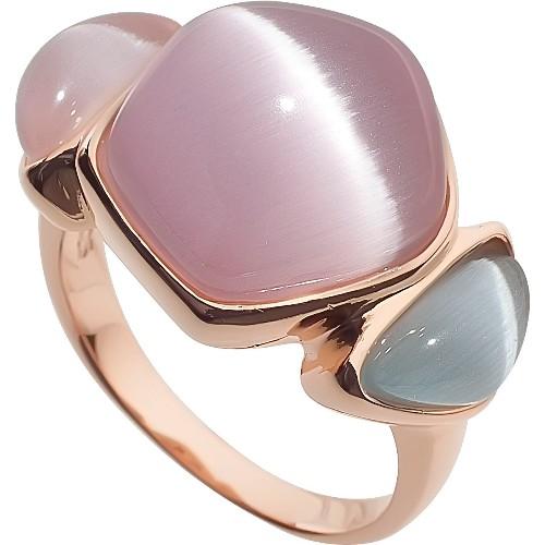 RIC263-21 Кольцо серебряное с позолотой
