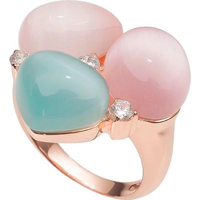 RIC266-21 кольцо серебряное с позолотой