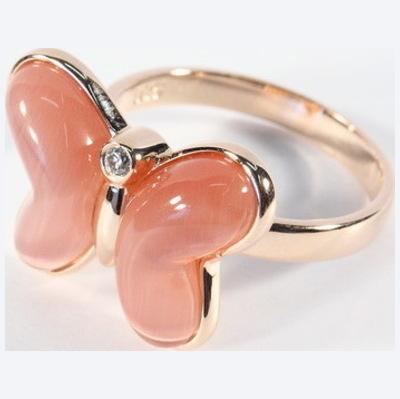RIC255-17 Кольцо серебряное с позолотой