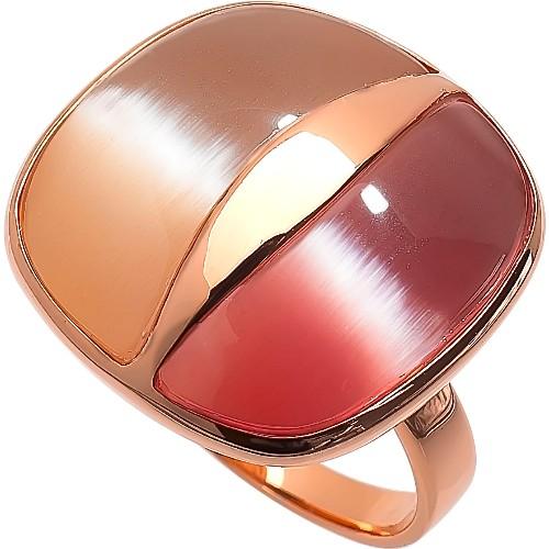 RIC239-17 Кольцо серебряное с позолотой