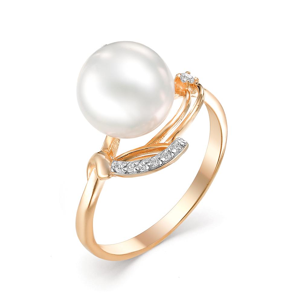 Золотое кольцо Жемчуг и Фианит арт. 31050A1 31050A1