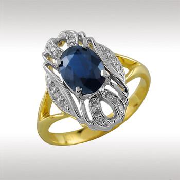 90081 Кольцо из лимонного золота