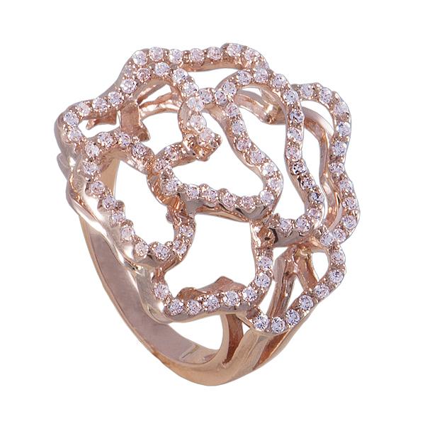 Золотое кольцо Фианит арт. к639 к639
