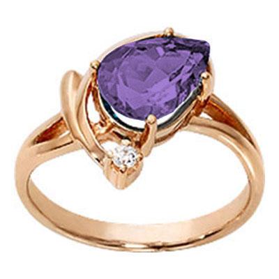 Золотое кольцо Аметист и Фианит арт. 1007421-11230-а 1007421-11230-а