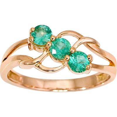 Золотое кольцо Изумруд арт. 1014641-11240-и 1014641-11240-и