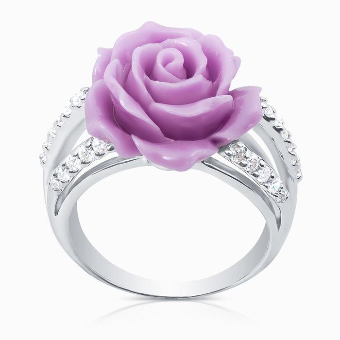 Серебряное кольцо Коралл и Фианит арт. 06973 06973
