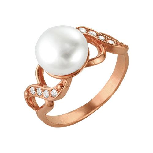 2332576 Кольцо серебряное с позолотой