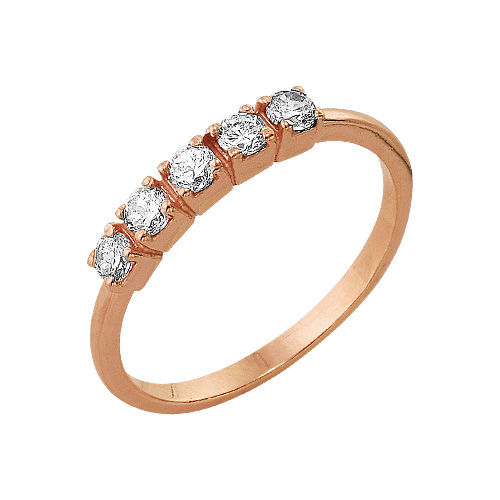 2382647 Кольцо серебряное с позолотой