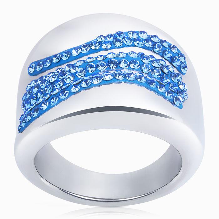 Серебряное кольцо Кристалл сваровски арт. 07756 07756