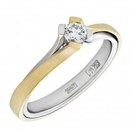 010559-ж/б Кольцо из белого золота