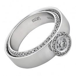010506 Кольцо из белого золота