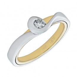 010560-б/ж Кольцо из белого золота