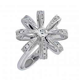 010528 кольцо из белого золота