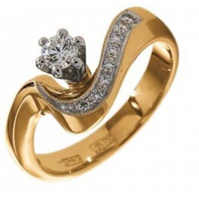 010145-б Кольцо из белого золота