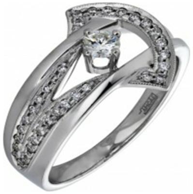 Кольцо из белого золота Бриллиант арт. 010371 010371