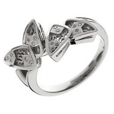 010302 Кольцо из белого золота