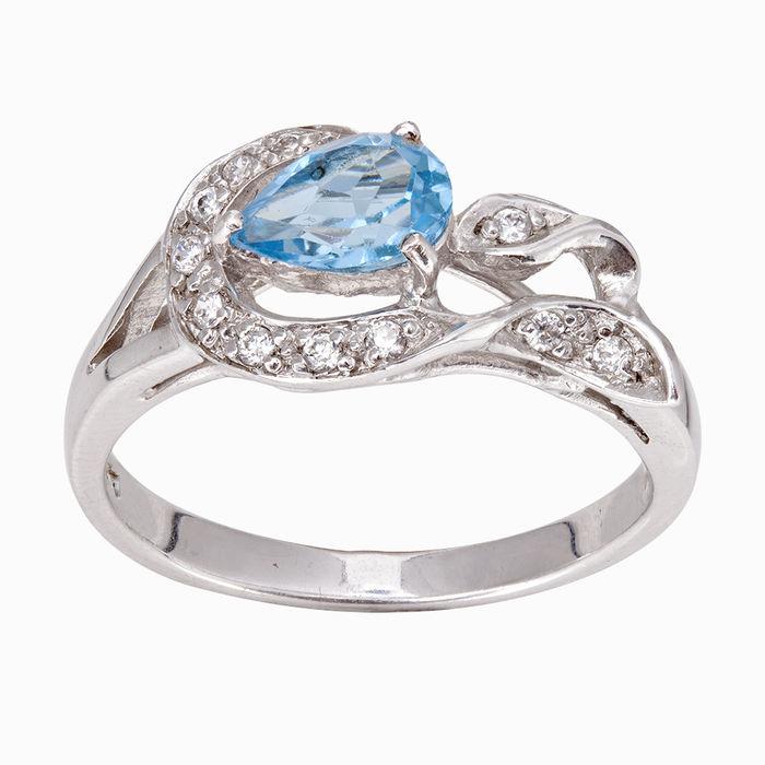 Серебряное кольцо Топаз и Фианит арт. 04991 04991