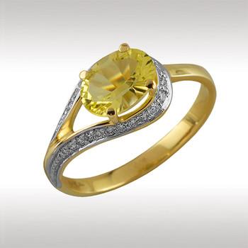 89969 Кольцо из лимонного золота