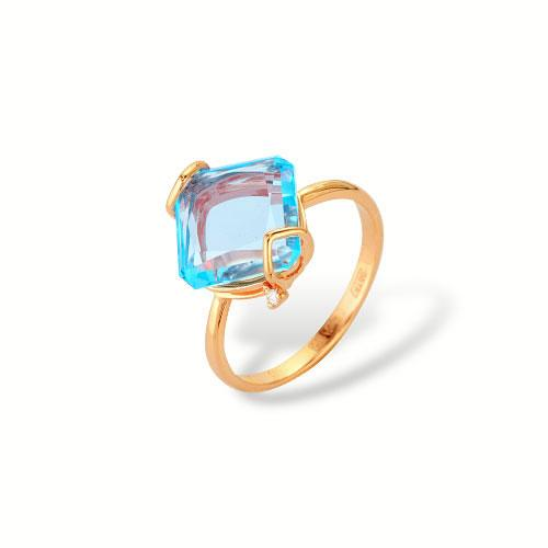 Золотое кольцо Топаз и Фианит арт. 1180514а 1180514а